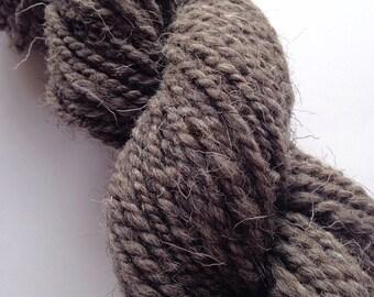 Handspun Yarn - Light Grey Herdwick, Natural Undyed Handspun Yarn,  UK