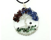 Genuine Gemstone Family Birthstone Tree of Life Pendant Each is Made To Order Ships USPS Priority  Domestic Only