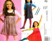 OOP Girls Yoke Dress Pattern - McCall's 5692 - Size 2-3-4-5 UNCUT FF Jumper Dress