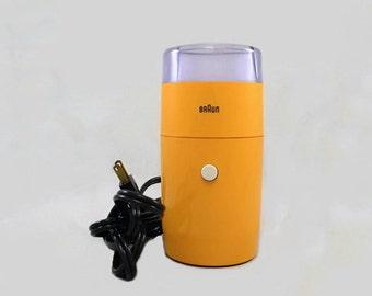Vintage Braun KSM1 Orange Coffee Grinder Germany