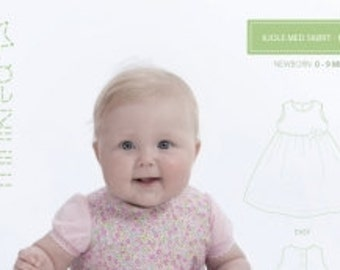 Minikrea 10005 Dress with gathered skirt Sewing Pattern for Baby Dänish Design