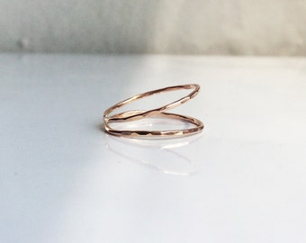 Simplex Double Band Knuckle Ring