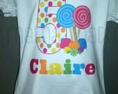 Candy Birthday Shirt Candy Shoppe Birthday Shirt Sweet Shoppe Birthday Candy Shop Birthday Sweet Shop Birthday shirt Size 6 mo through 12