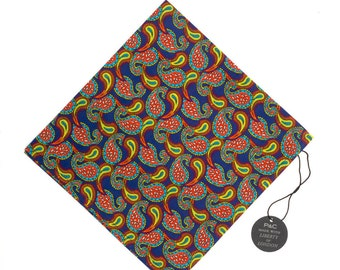 Pomp & Ceremony Pocket Square handkerchief Liberty of London Paisley Tears