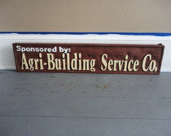 Large Vintage Agri Building Service Co Sign