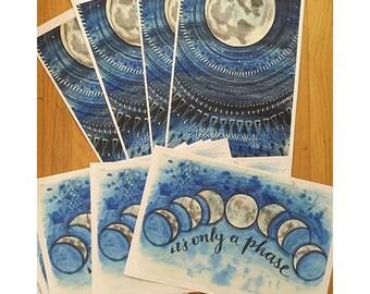 Lunar Rings Art Print Poster 11x17