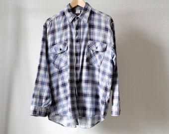 vintage FLANNEL nirvana kurt COBAIN 90s soft plaid flannel shirt size MEDIUM
