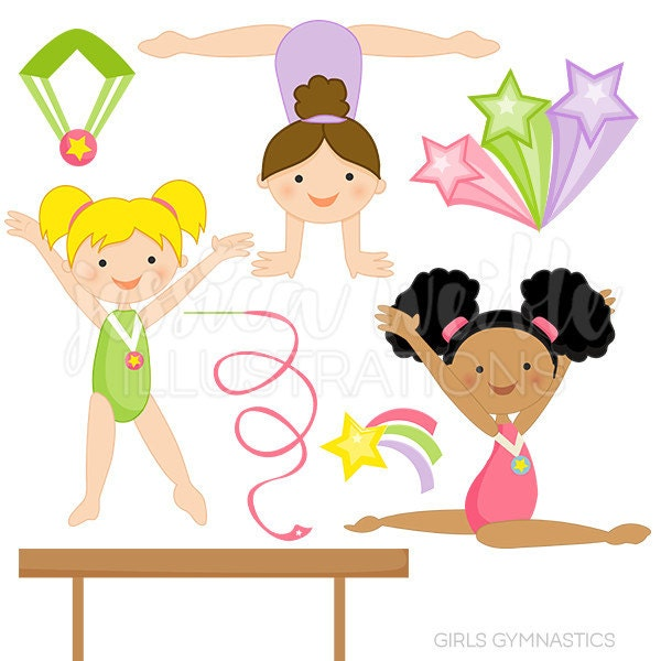 Clip Art Gymnast Clip Art gymnastic clip art etsy girls gymnastics cute digital clipart for commercial and personal use gymnast girl graphics