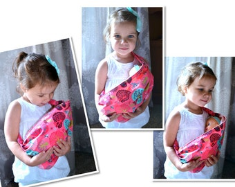 Baby Doll Carrier/Sling ~Comes with Magic Bottle! ~ Adorable Woodland Prints ~ Select Your Print