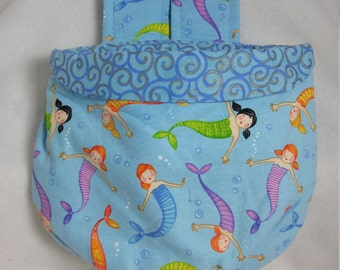 Stay Put Pouch Bedside Caddy Mermaids