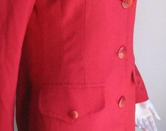 70s vtg red jacket blazer small size