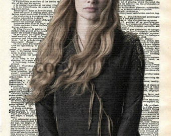 Cersei Lannister Game of Thrones Vintage Dictionary Art Print