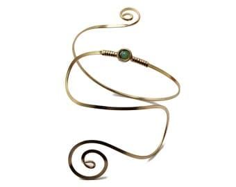 Bridal Armlet, Wire Arm Cuff, Arm Band, Silver Arm Cuff, Spiral Silver Armlet, Wedding Arm Cuff, Bridesmaid Armband, Arm Bracelet