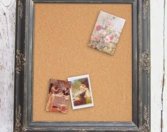 """CORK BOARDS For Sale 31""""x27"""" New Home Gift Black Frame Modern Home Office Organizer Decorative Cork board Corkboard Unique Memo Board"""