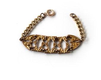 Handmade Reconstructed Antique Watch Chain Bracelet