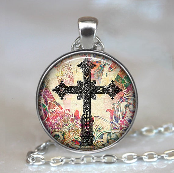 Antique cross necklace cross pendant christian cross necklace antique cross necklace cross pendant christian cross necklace christian jewelry easter jewelry easter gift key chain key ring key fob negle Image collections