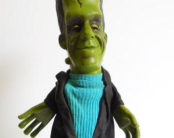 Vintage Herman Munster Frankenstein hand puppet toy 1964 Mattel Quality Originals