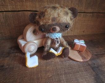 Miniature Teddy Bear, Artist Teddy Bear, Mohair Teddy Bear, Smarty lll