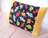 Dinosaur Pillow with Dinosaur Fabric Novelty Dino Pillow Ready to Ship Cute Kawaii