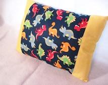 Dinosaur Pillow with Dinosaur Fabric Novelty Dino Pillow Ready to Ship Cute Kawaii