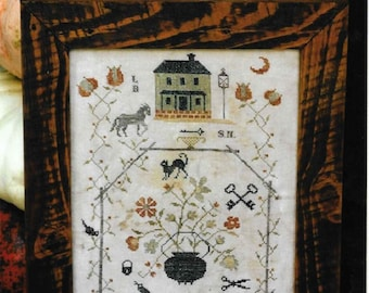 Counted Cross Stitch Pattern, Blackwater Hollow Sampler, Colonial Style Needlework, Primitive Cross Stitch, Stacy Nash, PATTERN ONLY