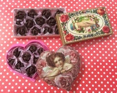 CHOCOLATE ROSES Filled BOX - in 1:6 or 1/12 Scale Dollhouse Miniature