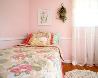 Buttercup Big Girl Bedding , Twin Full Bedding Set, Duvet Cover, Twin Size Bedding, Big Kid Bedding, Girls Bedding, Girl Room Decor