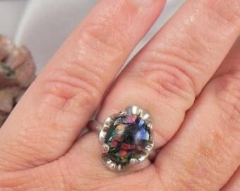 Art Glass Sterling Ring