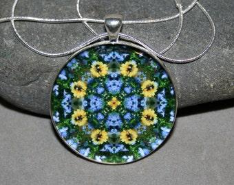 Dragonfly Mandala Pendant Necklace Boho Chic Sacred Geometry Hippie Kaleidoscope New Age Unique Gift For Her Gypsy Mod Jubilant Harmony