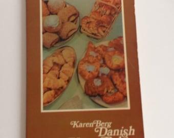 Danish Home Baking Vintage 1957 Cookbook Book by Karen Berg