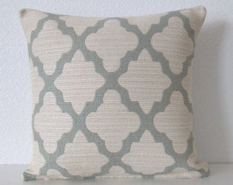 Dwell Studio Casablanca Geo Aquamarine geometric decorative pillow cover