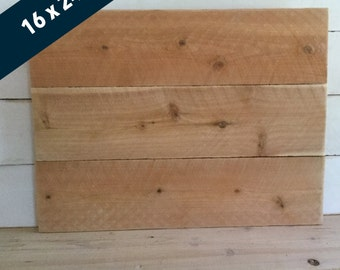 Blank Wood Sign - Pallet Style Signs - Make Your Own Sign - Raw Cedar Sign - Blank Sign - DIY unfinished Sign - 16x24