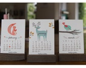2017 Woodland Calendar 4x6 With Wooden Stand