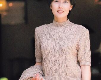 Japanese Craft Book, Knit Blouse Pattern, Knit Sweater Pattern, Knit Cardigan Pattern, Knitting Pattern