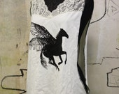 Pegasus Printed Tee / Upcycled Top / Oversized Tank