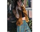 Vintage Tribal Pants 70s Ethnic Rayon Palazzo Pants 1970s Boho Hippie High Waist Rayon Trousers M L
