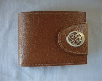Vintage ROLFS WALLET BUFFALO Calf Ladies Wallet Gold Filigree Detail Photo Wallet Coin Purse Double Bill Slot Classic Ladies Wallet Billfold