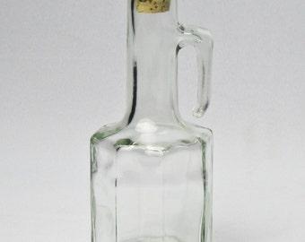Small Italian Glass Cruet / Oil and Vinegar / Vetreria Etrusca
