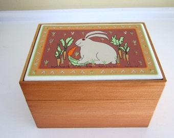 1982 Taylor & Ng Rascal Rabbit Recipe/File Box