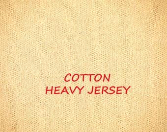 3/4 YARD, JERSEY KNIT, Pale Peach, Fashion or Craft Fabric, Heavy Weight Cotton, B24