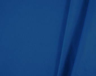Soft Primary Blue, Wide Fleece Fabric, Medium Weight Polyester, half yard, B3