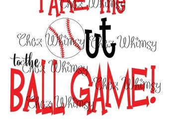 Baseball SVG, Take Me Out to the Ball Game Cut File, Ball Game SVG, Baseball Svg Design