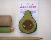 RESERVED for Defne - DO NOT Purchase - Abby Avocado hand sewn wool felt brooch