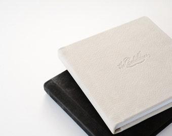 8x8 Flush Mount Wedding Album // Series B // Leather Cover