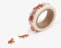 50 Winter fox Washi tape -fox stickers-craft supplies-card making- scrapbooking-planner stickers- erin condren-Love My Tapes-Dailylike