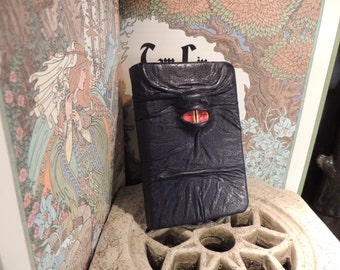 Mythical Beast Book (Dark Blue leather with Red eye)