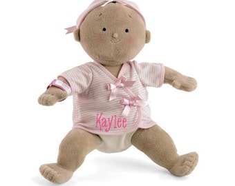 "PERSONALIZED Rosy Cheeks Soft Tan Girl Baby Doll 15"" Tall 2856 Free Shipping"