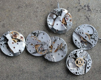 Vintage watch movements -- set of 6 -- D7