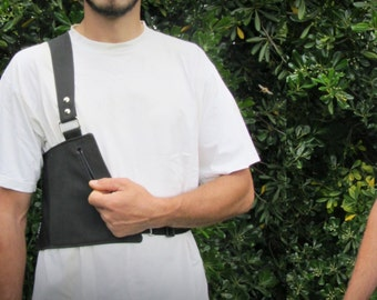 One-sided Holster for men // All Black or BrownBlack // Custom made