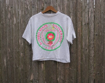Vintage 80s Ohio State University Belly Tshirt One Size